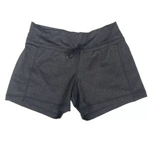 Lululemon Knock Out Shorts Size 8 Grey Black